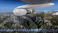 RJ100 over the alps